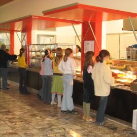 Einbau einer Cafeteria  in die bestehende Pausenhalle des St. Ursula Gymnasiums in Freiburg